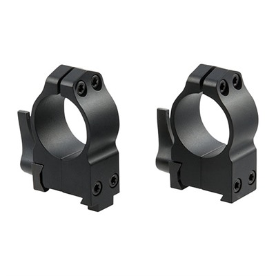 Maxima Grooved Receiver Cz Rings - Qd Grl Cz 550 Rings 1 Inch High Matte