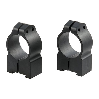 Warne Mfg. Company Maxima Grooved Receiver Cz Rings - Grl Cz 527 Rings 1 Inch High Matte