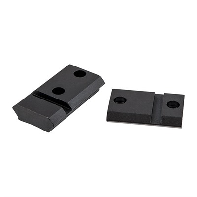 Warne Mfg. Company Maxima 2-Piece Steel Bases - Weatherby Mark V Mag Ext. Front, Matte