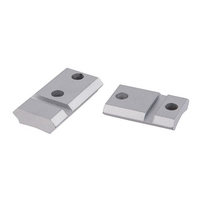 Warne Mfg Company Maxima 2 Piece Steel Bases Rem 700 Howa 1500 Ext Front Silver
