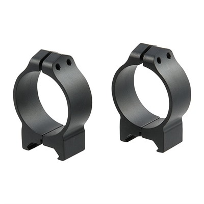 Warne Mfg. Company Maxima Fixed Rings - 34mm Low Fixed Rings Matte Black