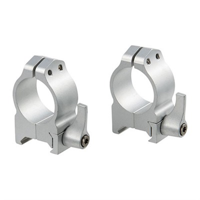 Warne Mfg. Company Maxima Quick Detach Rings Maxima Qd Rings 34mm Low Silver Online Discount