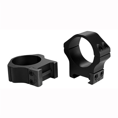 Warne Mfg. Company Maxima Horizontal Rings - 30mm Medium Horizontal Rings Matte Black