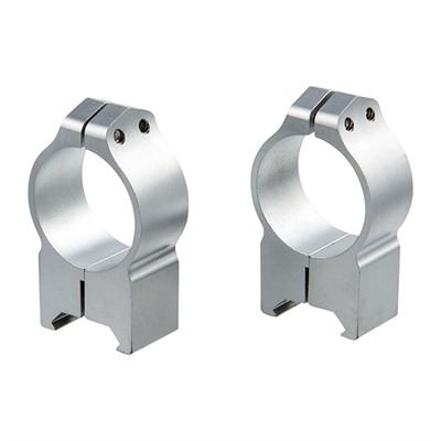 Warne Mfg. Company Maxima Fixed Rings - 30mm High Fixed Rings Silver