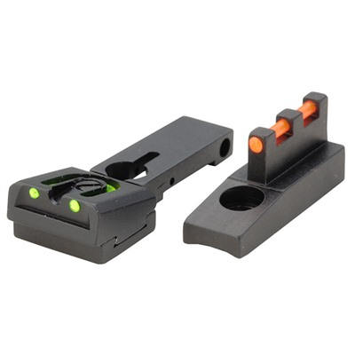 Browning Buckmark Fire Sight Fiber Optic Sight Set - Fits Browning Buckmark, Adjustable