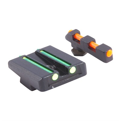Williams Gun Sight Fire Sight Fiber Optic Sight Set For Glock~