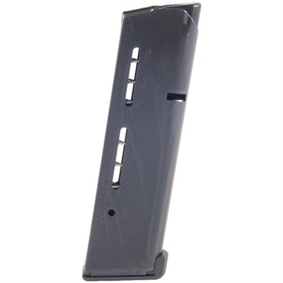 Wilson Combat 1911 8rd 45acp Elite Tactical Magazines - Govt .45 Acp 8-Rd, Black, Low-Profile Steel Base