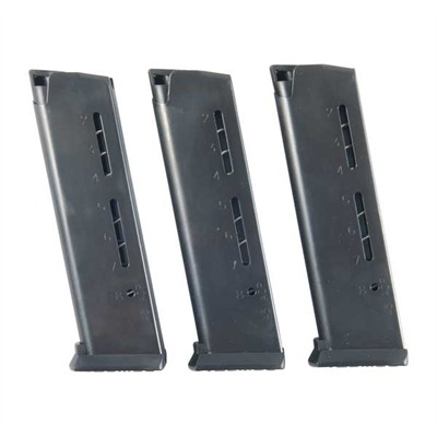 Wilson Combat 1911 8rd 45acp Elite Tactical Magazines 3 Packs + Pouch - Govt .45 Acp 8-Rd, Black, Polymer Base 3-Pak