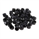 "5/8"" BLACK VINYL TUBE CAP, PKG 50"