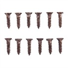 4 X 1/2 BLUED STEEL WOOD SCREW, DOZ