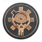 PATCH, BFL SKULL, TAN, EMBROIDERED, VE
