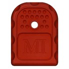 GLOCK MAG BASE PLATE RED 9/40/.357