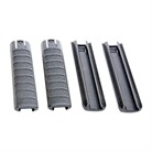 AA EXTENDED RAIL COVERS 4PK BLK POLY