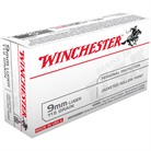 WIN AMMO 9MM LUGER USA 115GR J
