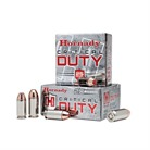 HORNADY CRITICAL DUTY AMMO 9MM+P 135GR