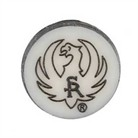 D82 PISTOL GRIP CAP MEDALLION, BLUED